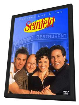 Seinfeld - 11 x 17 TV Poster - Style D - in Deluxe Wood Frame