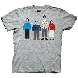 Seinfeld - Group Clothing Heather Gray T-Shirt