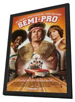 Semi-Pro - 27 x 40 Movie Poster - Style B - in Deluxe Wood Frame