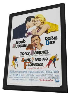 Send Me No Flowers - 27 x 40 Movie Poster - Style A - in Deluxe Wood Frame