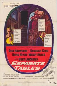Separate Tables - 43 x 62 Movie Poster - Bus Shelter Style A