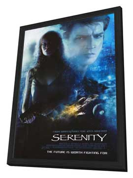 Serenity - 11 x 17 Movie Poster - Style C - in Deluxe Wood Frame