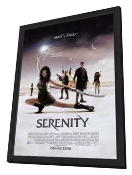 Serenity - 27 x 40 Movie Poster - Style C - in Deluxe Wood Frame