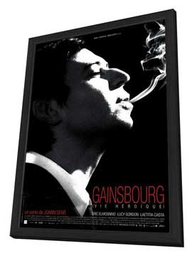 Serge Gainsbourg, vie heroique - 27 x 40 Movie Poster - French Style A - in Deluxe Wood Frame