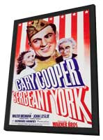 Sergeant York - 11 x 17 Movie Poster - Style A - in Deluxe Wood Frame