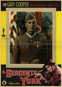 Sergeant York - 11 x 17 Movie Poster - Italian Style A