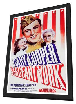 Sergeant York - 27 x 40 Movie Poster - Style A - in Deluxe Wood Frame