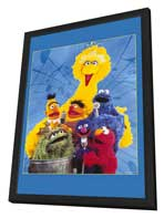 Sesame Street - 27 x 40 TV Poster - Style A - in Deluxe Wood Frame