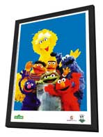 Sesame Street - 27 x 40 TV Poster - Brazilian Style A - in Deluxe Wood Frame