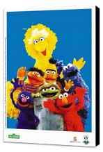 Sesame Street - 27 x 40 TV Poster - Brazilian Style A - Museum Wrapped Canvas