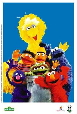 Sesame Street - 27 x 40 TV Poster - Brazilian Style A