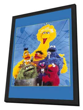 Sesame Street - 11 x 17 TV Poster - Style A - in Deluxe Wood Frame