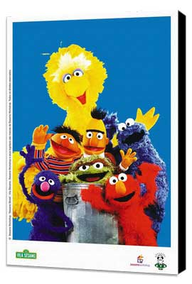 Sesame Street - 11 x 17 TV Poster - Brazilian Style A - Museum Wrapped Canvas