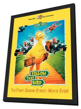 Sesame Street Presents: Follow that Bird - 27 x 40 Movie Poster - Style A - in Deluxe Wood Frame