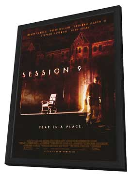 Session 9 - 11 x 17 Movie Poster - Style A - in Deluxe Wood Frame