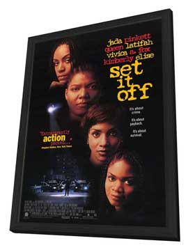 Set It Off - 11 x 17 Movie Poster - Style A - in Deluxe Wood Frame