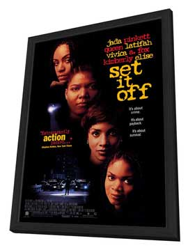 Set It Off - 27 x 40 Movie Poster - Style A - in Deluxe Wood Frame