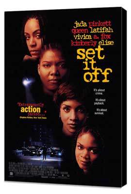 Set It Off - 27 x 40 Movie Poster - Style A - Museum Wrapped Canvas