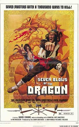 Seven Blows of the Dragon - 11 x 17 Movie Poster - Style A
