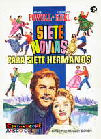 Seven Brides for Seven Brothers - 27 x 40 Movie Poster - Spanish Style A