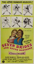 Seven Brides for Seven Brothers - 20 x 40 Movie Poster - Style A