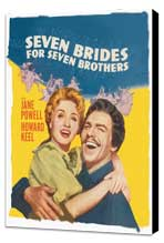 Seven Brides for Seven Brothers - 11 x 17 Movie Poster - Style C - Museum Wrapped Canvas