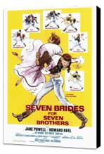 Seven Brides for Seven Brothers - 27 x 40 Movie Poster - Style A - Museum Wrapped Canvas
