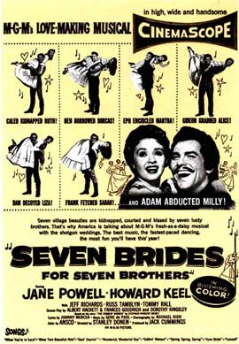 Seven Brides for Seven Brothers - 11 x 17 Movie Poster - Style E