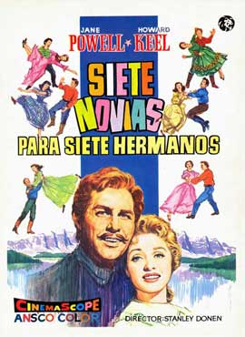 Seven Brides for Seven Brothers - 11 x 17 Movie Poster - Spanish Style A