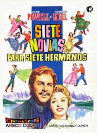 Seven Brides for Seven Brothers - 43 x 62 Movie Poster - Spanish Style A