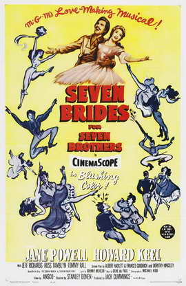 Seven Brides for Seven Brothers - 11 x 17 Movie Poster - Style D