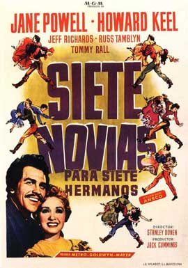 Seven Brides for Seven Brothers - 11 x 17 Movie Poster - Spanish Style B