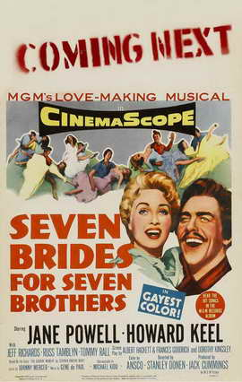 Seven Brides for Seven Brothers - 11 x 17 Movie Poster - Style F