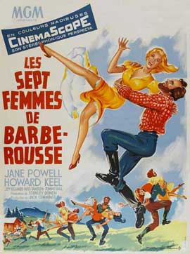 Seven Brides for Seven Brothers - 27 x 40 Movie Poster - French Style A