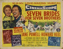 Seven Brides for Seven Brothers - 22 x 28 Movie Poster - Half Sheet Style B