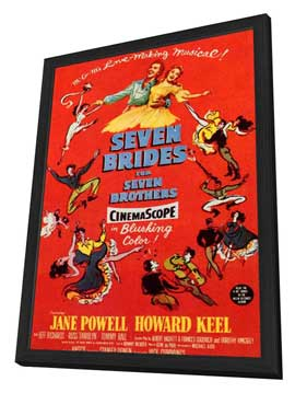 Seven Brides for Seven Brothers - 11 x 17 Movie Poster - Style B - in Deluxe Wood Frame