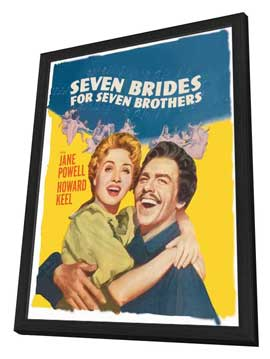 Seven Brides for Seven Brothers - 11 x 17 Movie Poster - Style C - in Deluxe Wood Frame