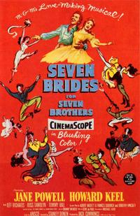 Seven Brides for Seven Brothers - 11 x 17 Movie Poster - Style B - Museum Wrapped Canvas