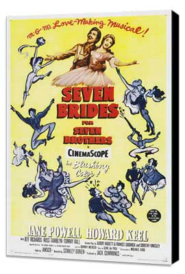 Seven Brides for Seven Brothers - 27 x 40 Movie Poster - Style B - Museum Wrapped Canvas