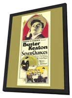 Seven Chances - 11 x 17 Movie Poster - Style A - in Deluxe Wood Frame