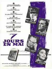 Seven Days in May - 11 x 17 Movie Poster - French Style A