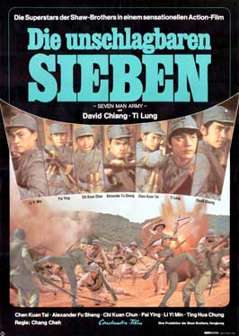 Seven Man Army - 27 x 40 Movie Poster - German Style A