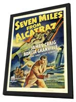Seven Miles from Alcatraz - 11 x 17 Movie Poster - Style A - in Deluxe Wood Frame