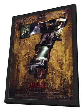 Seven - 11 x 17 Movie Poster - Style B - in Deluxe Wood Frame