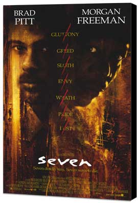 Seven - 27 x 40 Movie Poster - Style A - Museum Wrapped Canvas