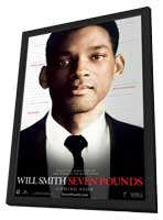 Seven Pounds - 11 x 17 Movie Poster - Style A - in Deluxe Wood Frame