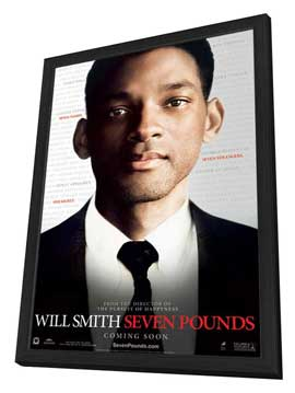Seven Pounds - 27 x 40 Movie Poster - Style A - in Deluxe Wood Frame