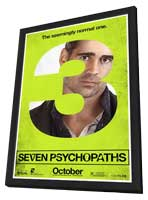 Seven Psychopaths - 27 x 40 Movie Poster - Style C - in Deluxe Wood Frame