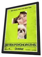 Seven Psychopaths - 27 x 40 Movie Poster - Style D - in Deluxe Wood Frame