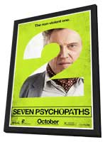 Seven Psychopaths - 27 x 40 Movie Poster - Style E - in Deluxe Wood Frame